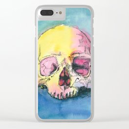 Colorful Skull 3 Clear iPhone Case