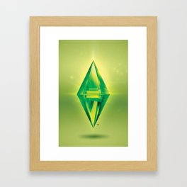 The Sims™ Plumbob: Glow Framed Art Print
