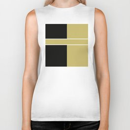 Team Color 6...black,gold Biker Tank
