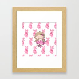 Little Ballerina in Pink Framed Art Print
