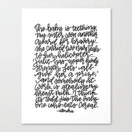 I think it's Todd: Monoline Canvas Print