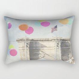 Bright Brooklyn Bridge Balloons Rectangular Pillow