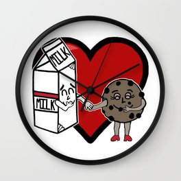 Milk and Cookie Love Wall Clock