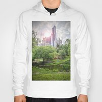 central park Hoodies featuring Central Park Dreams by MikeMartelli