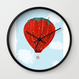 Strawballoon Wall Clock