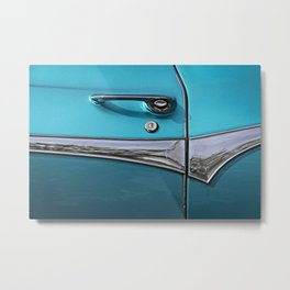 classic US car chrome door handle Metal Print