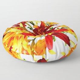 Day Lilies Floor Pillow