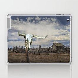 Steer Skull and Western Fenced Corral Laptop & iPad Skin