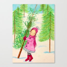 Time to pick a Christmas Tree Canvas Print