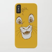 simba iPhone & iPod Cases featuring Simba  by Luxatr