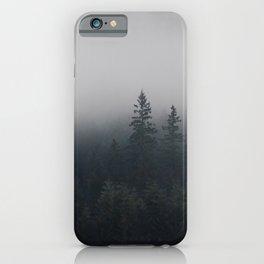 Northwestern misty forest iPhone Case