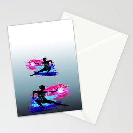 Martial arts, karate, yoga, aikido, judo, athlete Stationery Cards