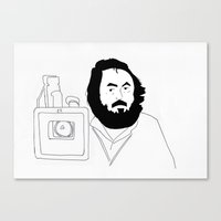 stanley kubrick Canvas Prints featuring Stanley Kubrick by Sector 8