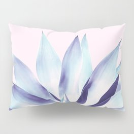 Solar Agave - Pastel blue on pink Pillow Sham