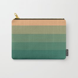 Peach Green Tea Ombre Carry-All Pouch