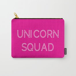 Unicorn Squad - Hot Pink and White Carry-All Pouch