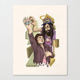 you love jesus-Jesus love's crack Canvas Print