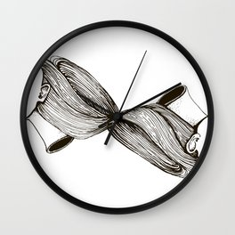 twins with mobius hairs Wall Clock