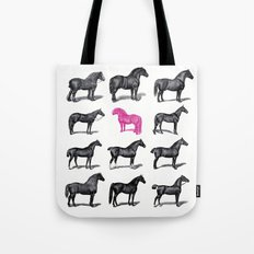 Brave Horses & Pink Pony Tote Bag