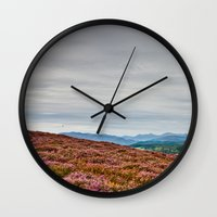 scotland Wall Clocks featuring Scotland by janisratnieks
