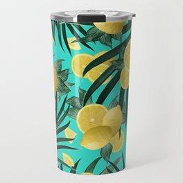 Summer Lemon Twist Jungle #1 #tropical #decor #art #society6 Travel Mug