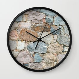 old wall from field stones Wall Clock