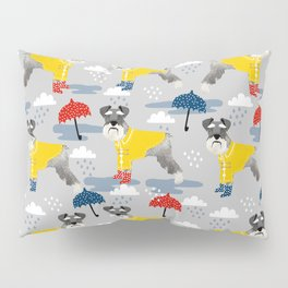 Schnauzer spring raincoat cute pattern for dog lover with schnauzers Pillow Sham