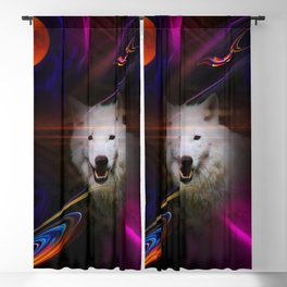 Full moon - Blood moon  fascination wolf Blackout Curtain
