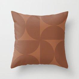 Monochromatic Minimalism - Red Throw Pillow