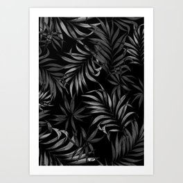 Dark Palms Art Print