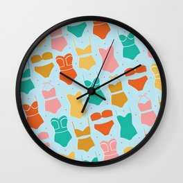 Coastal Swim Wall Clock
