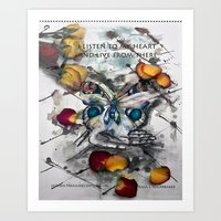 message from the heart Art Print