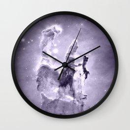nEbulA Lavender Gray Wall Clock