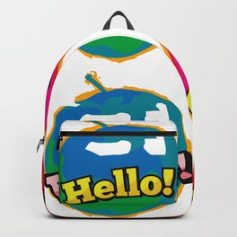Comic Wow Hello Love Pink Apple Pop Art Backpack