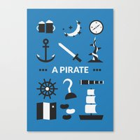 ouat Canvas Prints featuring OUAT - A Pirate by Redel Bautista