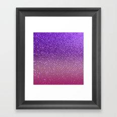 Gradient Glitter Purple Pink Sparkle Framed Art Print