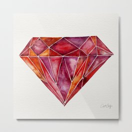 Million-Carat Ruby Metal Print