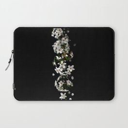 White Floral Minimalism (Black and White) Laptop Sleeve