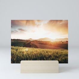 tuscany countryside in summer Mini Art Print