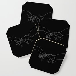 Black Pinky Swear Coaster