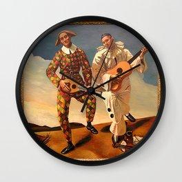 Arlequin et Pierrot Wall Clock