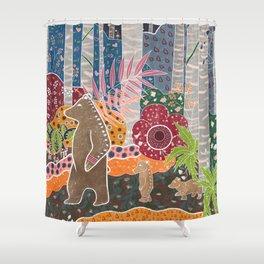 Fête de la Forêt Shower Curtain