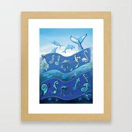 Ocean's Symphony Framed Art Print
