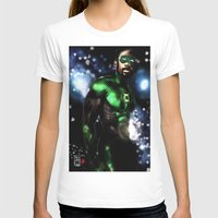 john green T-shirts featuring John Stewart : The Green Lantern by André Joseph Martin