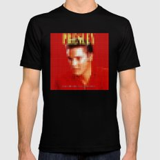 Elvis Presley - Greatest Hits - Pixel Cover X-LARGE Black Mens Fitted Tee