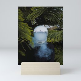 PERSON - WEARING - WHITE - HELMET - PHOTOGRAPHY Mini Art Print