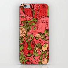Faces Pattern iPhone & iPod Skin