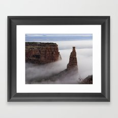 Independence in the Clouds Framed Art Print