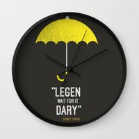 himym Wall Clocks featuring ''legen  wait for it  dary'' barney Stinson by :: Fan art ::