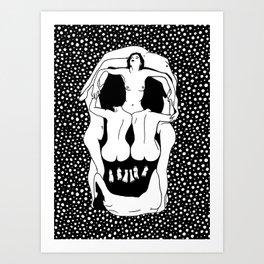 Salvador Dalí - Skull Art Print